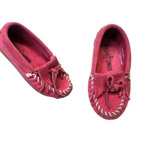 MINNETONKA | Kilty Pink Suede Leather Moccasins